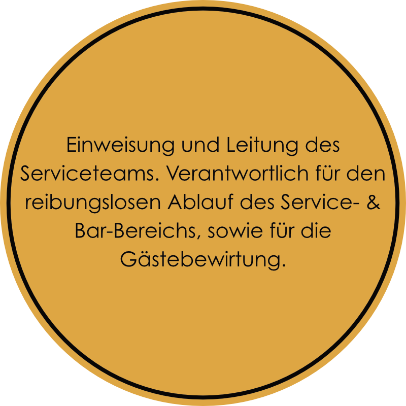 Gastro-Project Regensburg - Serviceleitung
