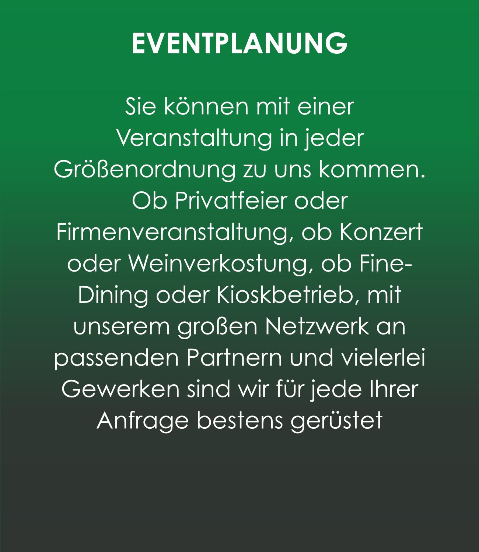 Gastro-Project Regensburg - Eventplanung